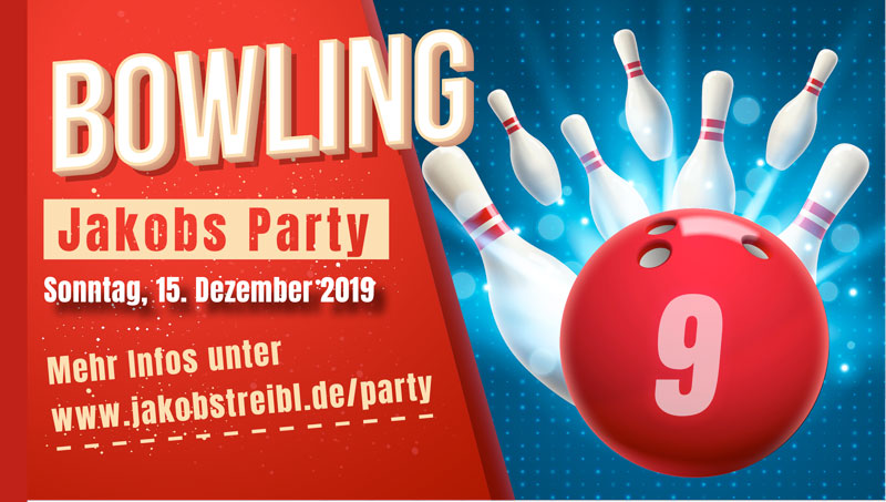 einladung bowling party